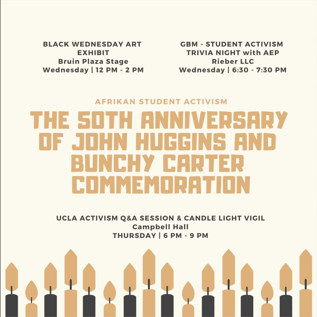 Academic Advancement Program   John Huggins, Bunchy Carter Annual