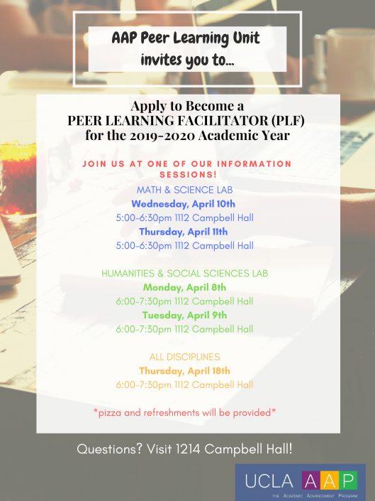 Academic Advancement Program | Peer Learning