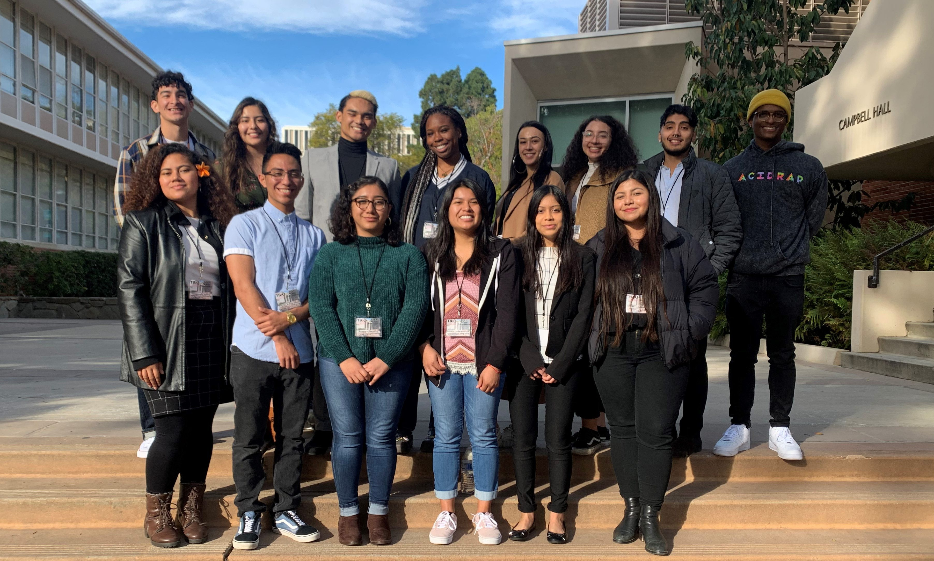 An image of the 2019 - 2021 McNair Cohort standing besides each other outside.
