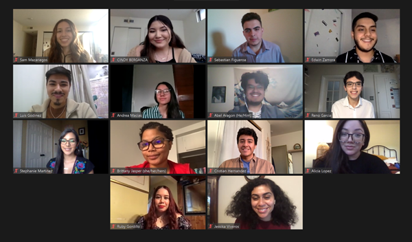 An image of the 2020-2022 McNair Cohort taken over Zoom.