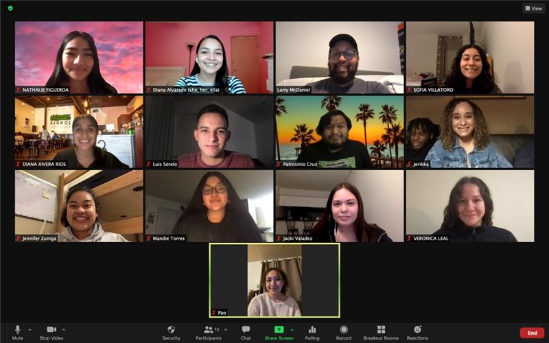 An image of the 2020 - 2021 Educators For Tomorrow Cohort taken over Zoom.