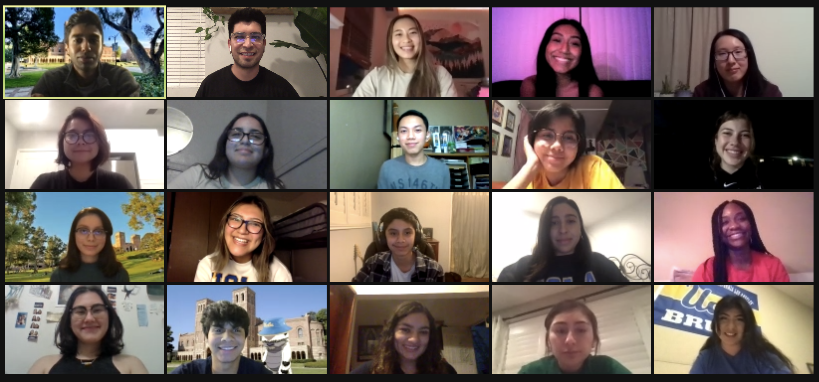 An image of the 2020 - 2021 Research Rookies Cohort taken over Zoom.